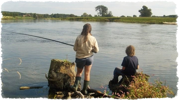Agroturystyka z wędkowaniem na rzece i noclegiem