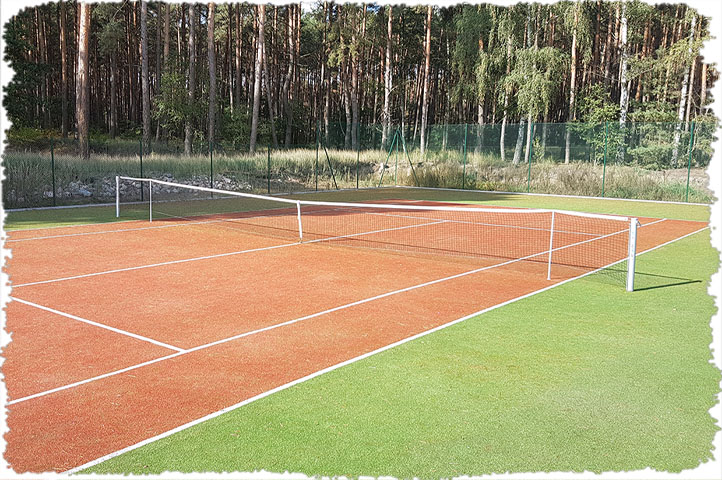 Kort tenisowy okolice Skwierzyny i Międzychodu