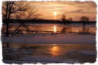 rzeka warta zima